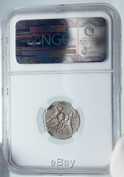 République Romaine Authentique Antique Argent 103bc Rome Coin Bataille Scene Ngc I86032