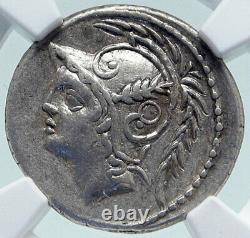 République Romaine Authentique Argent Ancien 103bc Rome Pièce Battle Scène Ngc I86625