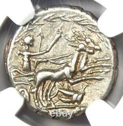 République Romaine C. Allius Bala Ar Denarius Coin 92 Bc Certifié Ngc Choice Xf