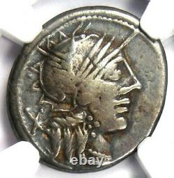 République Romaine C. Porcius Cato Ar Denarius Coin 123 Bc Certified Ngc Choice Amende