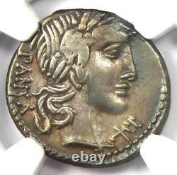 République Romaine C. Vib. Cf Pansa Ar Denarius Coin 90 Bc Certifié Ngc Choice Vf