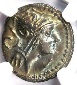 République Romaine D. Silanus Lf. Ar Denarius Roma, Chevaux Coin 91 Av. Ngc Choice Au