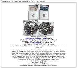 République Romaine Jules Cesar Ancienne Famille Silver Coin Venus Cupids Ngc I81722