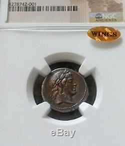République Romaine L. Censorinus Denarius Ngc Choice Xf 5/4 Pièce D'argent Ancienne