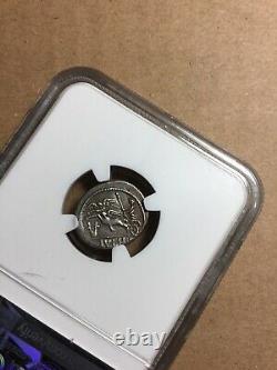 République Romaine L Jules Cesar Antique Ngc Graded Plaqué Fourée, Coin Lecture