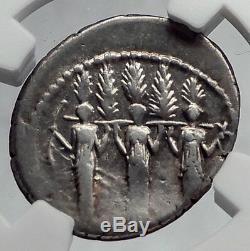 République Romaine Larentia Hero Femme 43 Avant Jc De Rome Et Nymphes Silver Coin Ngc I60173