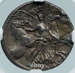 République Romaine Medusa & Aurora Ancient Silver Roman 47bc Rome Coin Ngc I88366