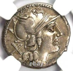 République Romaine P. Aelius Paetus Ar Denarius Coin 138 Bc Certifié Ngc Vf