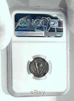 République Romaine Pompée Troupes Espagne Ancien Argent Monnaie Ngc I78637