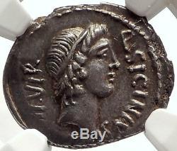 République Romaine Pompey Argent Grande Armée Ancienne 49bc Monnaie Ngc Ch Au I66910