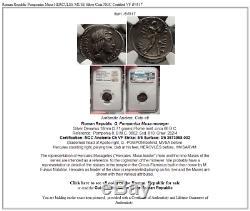 République Romaine Pomponius Musa Hercules Muse Argent Monnaie Ngc Certifié Vf I54517