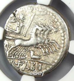 République Romaine Q. Fabius Labeo Ar Denarius Roma Coin 124 Bc Ngc Choix Vf