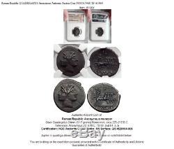 République Romaine Quadrigatus Anonyme Ancienne Pièce De Monnaie Janus Ngc Xf I61064
