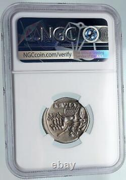 République Romaine Quadrigatus Didrachm Authentic Ancient Coin Janus Ngc Au I89615