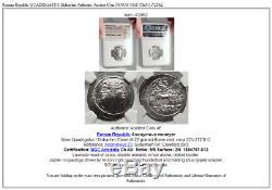 République Romaine Quadrigatus Didrachme Authentique Ancienne Pièce De Monnaie Janus Ngc Châu I72862