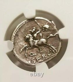 République Romaine Serge Silus Denarius Ngc Choice Vf Pièce D'argent Antique