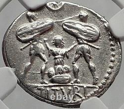 République Romaine Tarpeia Betrays Rome Sabine Roi Tatius Pièce D'argent Ngc I62852