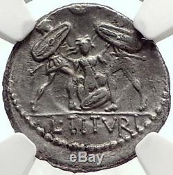 République Romaine Tarpeia Rome Sabine Roi Trahit Tatius Argent Monnaie Ngc I69075