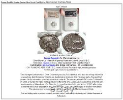 République Romaine Véritable Argent Grec Ancien Coin Diana Crete Goat Ngc Ms I75088
