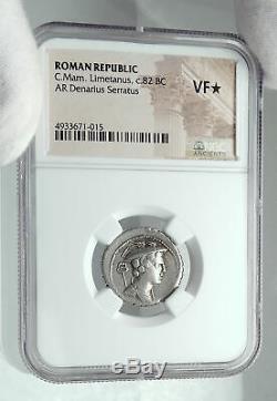 Retourne Odysseus De Odyssey Dog 82bc Argent République Romaine Monnaie Ngc I78644