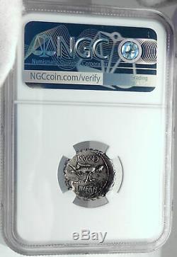 Retourne Odysseus De Odyssey Dog 82bc Argent République Romaine Monnaie Ngc I82505