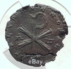 Révolte Poemenius Nom De Constantius Chrisme Ngc Certifié I80522 Roman Coin