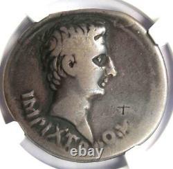 Romain Auguste Ar Cistophorus Coin 19 Bc (pergame, Arc De Triomphe) Ngc Fin