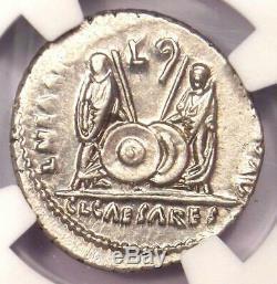 Romain Auguste Ar Denarius Numismatique, Lugdunum 27 Bc 14 Ad Certifié Ngc Au