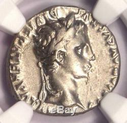 Romain Auguste Ar Denarius Numismatique, Lugdunum 27 Bc 14 Ad Ngc Choix Vf
