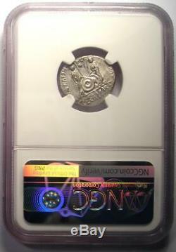 Romain Auguste Ar Denarius Numismatique, Lugdunum 27 Bc 14 Ad Ngc Ua Condition
