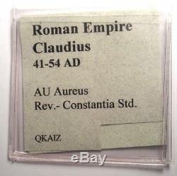 Romain Claudius Or Av Aureus Constantia Coin 41-54 Certifié Ngc Vg