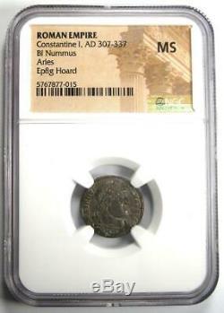 Romain Constantin I Bi Nummus Coin (307-337 Ad) Certifié Ngc Ms (unc)