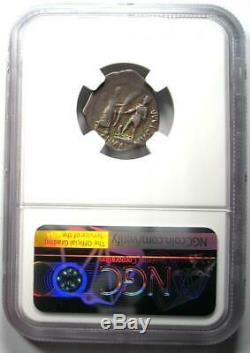 Romain Pompée Junior Ar Denarius Argent Monnaie 45 Bc Arc-en-tone Ngc Vf