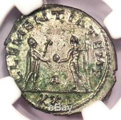 Romain Tacite Bi Aurelianianus Jupiter Coin 275-276 Ad Certifié Ngc Ms (unc)