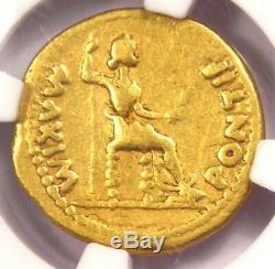 Romain Tibère Or Av Aureus Livia Coin 14-37 Ad Certifié Ngc Choix Fin