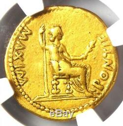 Romain Tibère Or Av Aureus Livia Coin 14-37 Ad Certifié Ngc Vf Rare