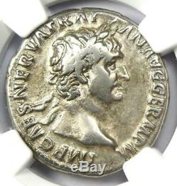 Romain Trajan Ar Cistophorus Silver Coin 98-117 Certifié Ngc Vf (very Fine)