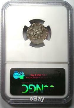 Romain Trajan Ar Denarius Argent Monnaie 98-117 Certifié Ngc Xf Choix (ef De)