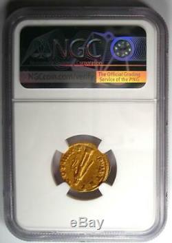 Romain Trajan Or Av Aureus Hercules Coin 98-117 Certifié Ngc Vf Rare