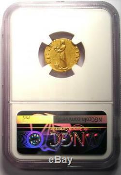 Romain Vespasien Or Av Aureus Coin 69-79 Certifié Ngc Choix Vf (very Fine)