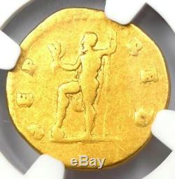 Romain Vespasien Or Av Aureus Neptune Coin 69-79 Certifié Ngc Fin
