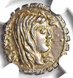Roman A. Post. Albinus Ar Denarius Serratus Argent Coin 81 Bc Ngc Choice Au
