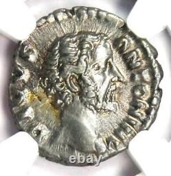 Roman Antoninus Pie Ar Denarius Silver Coin 138-161 Ad. Certifié Ngc Xf (ef)