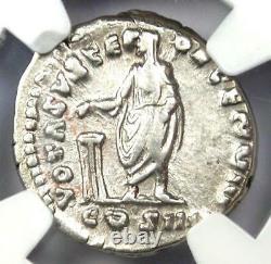 Roman Antoninus Pius Ar Denarius Silver Coin 138-161 Ad. Certifié Ngc Choice Vf