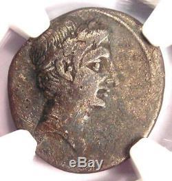 Roman Ar Auguste Octavian Denier D'argent Monnaie 30-29 Bc Mbac Bon Choix