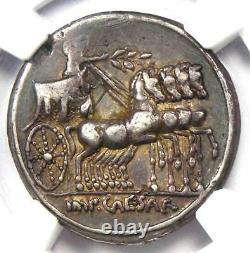 Roman Ar Denarius Auguste Octavian Argent Monnaie 30 Bc Certifié Ngc Choix Vf
