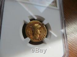 Roman Av Aureus Nero, Or Ancienne Pièce De Monnaie Ad 54-68 Ngc Vg, (7.53g)