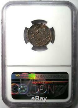 Roman Brutus Ar Denarius Argent Monnaie 54 Bc Certifié Ngc Xf Choix (ef De)