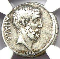 Roman Brutus Ar Denarius Silver Coin 54 Av. J.-c. (issue As Moneyer) Certifié Ngc Vf