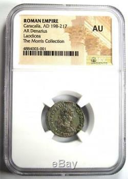 Roman Caracalla Ar Denarius Argent Monnaie 198-217 Ad Certifié Ngc Ua Condition